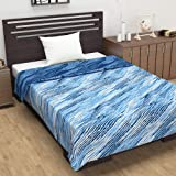 Divine Casa Natty Abstract Microfibre Reversible Single Dohar/Blanket - Blue