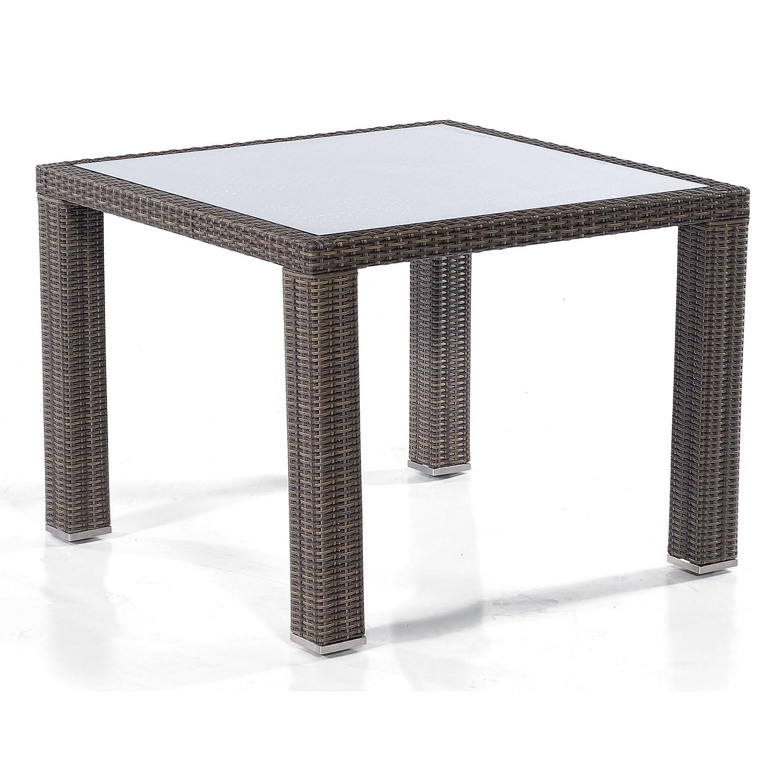 Sonnenpartner Tisch Glastisch Carmel 100 x 100 cm cappuccino 80060673