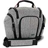 USA GEAR Professional DSLR Camera Bag Carrying Case with Shoulder Strap and Lens Storage Pockets for Nikon D3100 / D3200 / D3300 / D3400 , D5200 / D5300 / D5500 , D7100 / D7200 and More DSLR Cameras!