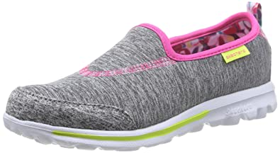 girls pink skechers