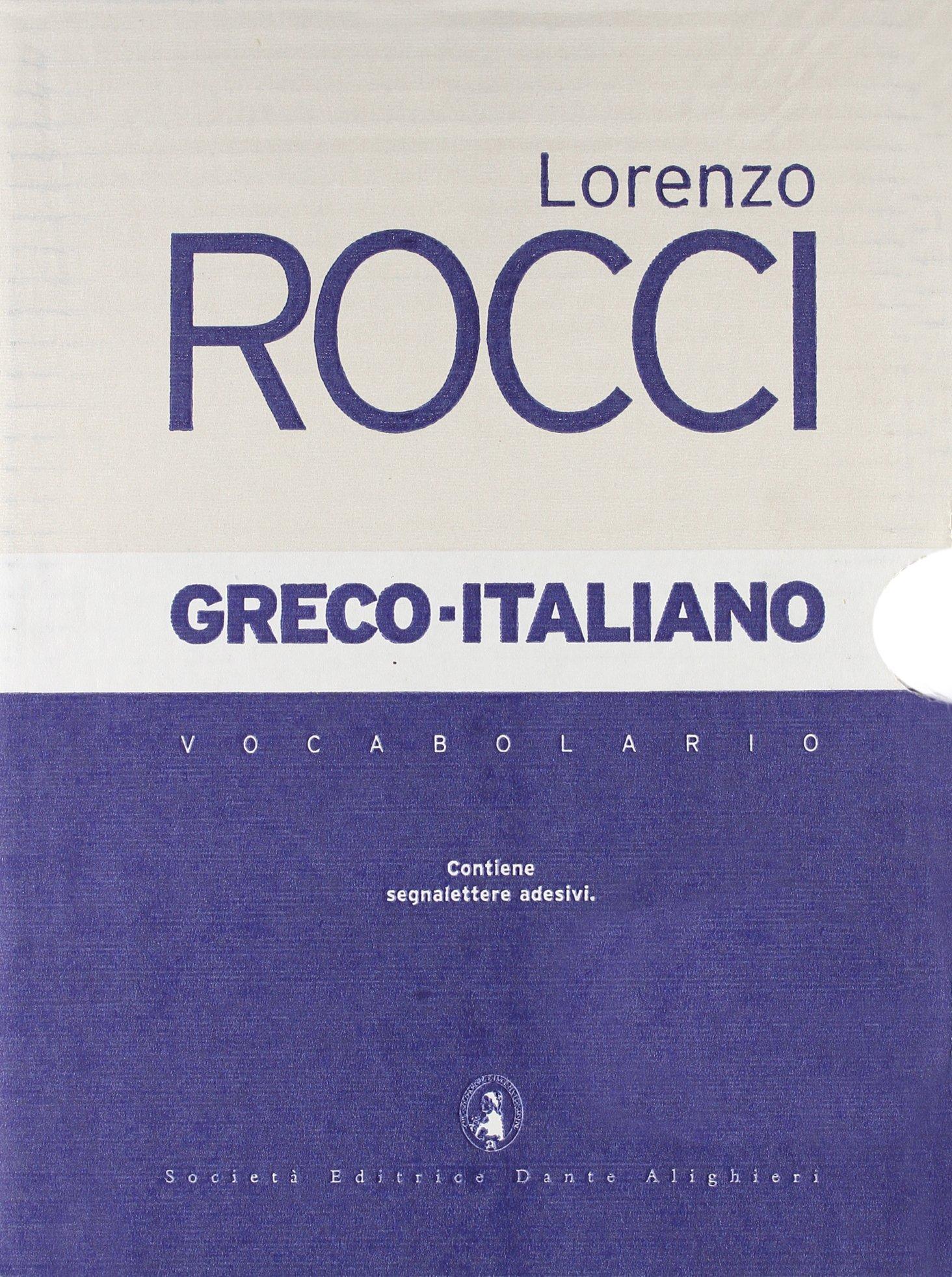dizionario greco rocci
