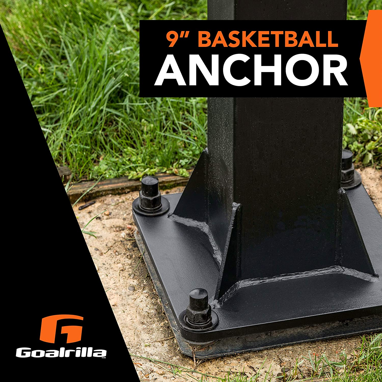 Renewed and Hoopstar Basketball Hoops Silverback 7 Basketball Hoop Anchor Kit Designed Goaliath