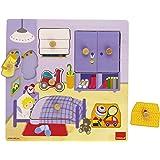 Goula - 53034 - Jouet en Bois - Eveil - Puzzle - Chambre