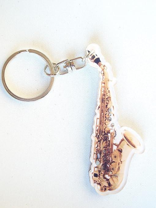 Llavero en forma de saxofón: Amazon.es: Instrumentos musicales