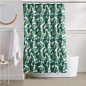 AmazonBasics Tropical Shower Curtain - 72 Inch