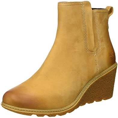 Timberland Women's Amston Chelsea Boot,Wheat Nubuck,6 ...