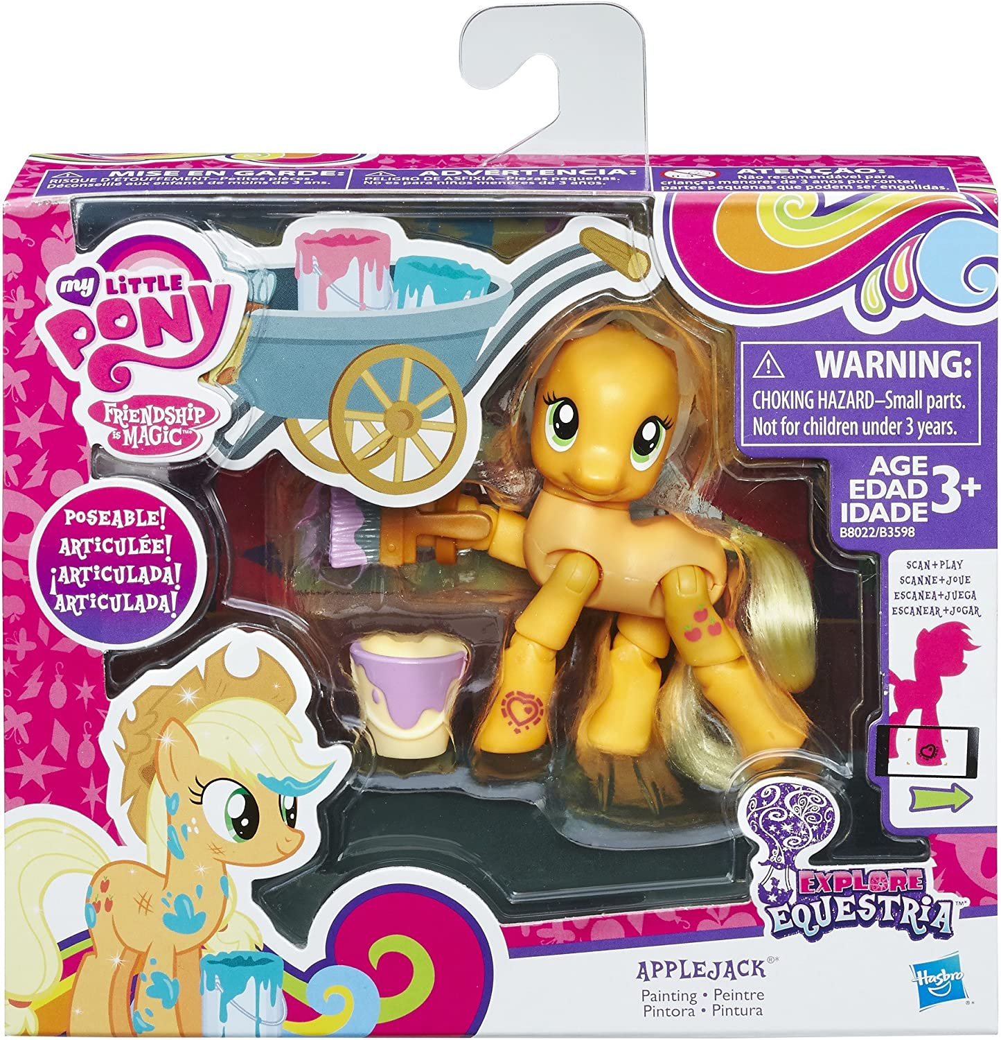 My Little Pony Apple Jack Painting 3 Articulated UK AN