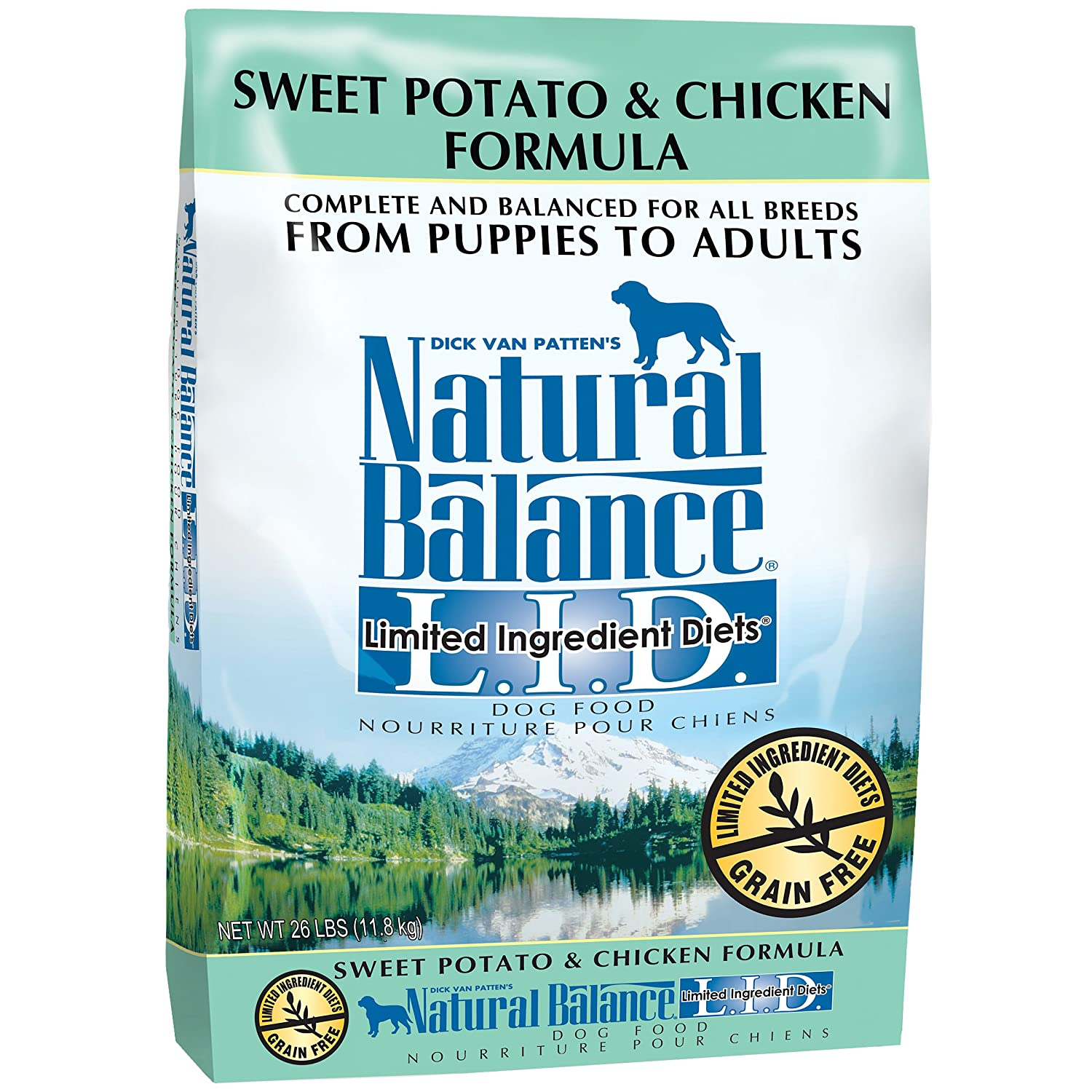 Natural Balance Limited Ingredient Diets Dry Dog Food – Chicken Sweet Potato Formula