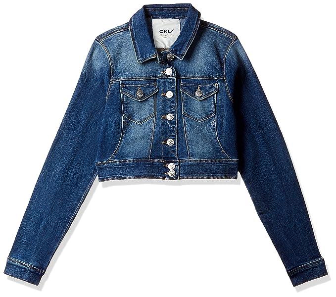 Veste en Jean Femme Blouson Manteau en Crop Denim Jacket Casual