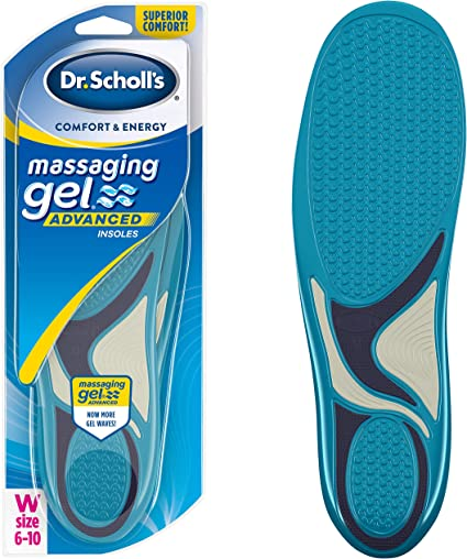 //// Absorb Shock /& Reduce Muscle Fatigue In Dr Scholl/'S Sport Massaging Gel Advanced Insoles Knees /& Lower Back Mens 8-14