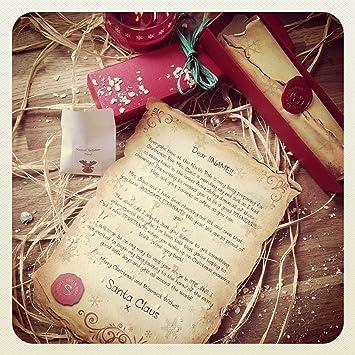 handmade personalised santa letter scroll letter from santa