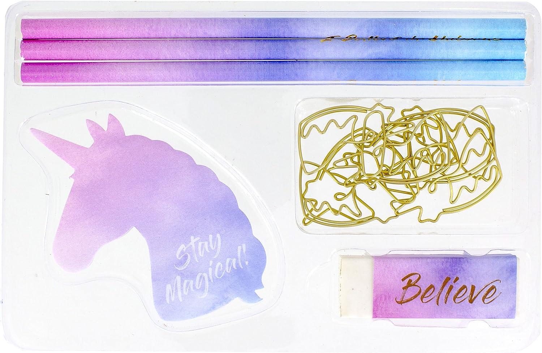 Desktop Distractions Unicorn Stationery Set