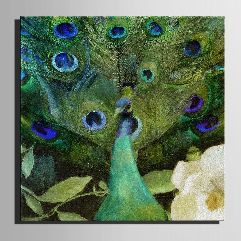 LTQ&QING new-Leinwand-Kunst Gr¨¹ne Pfau-Dekoration-Malerei, rahmenlose Malerei, 50501 B07CSMZ6H6        München Online Shop  38794e