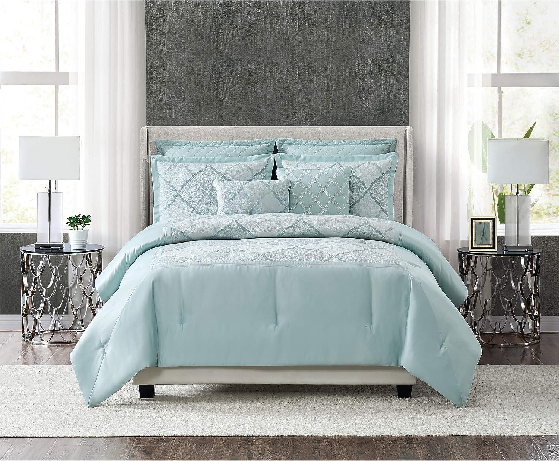 5th Avenue Lux Roya Luxury 7 Piece Comforter Set, Queen