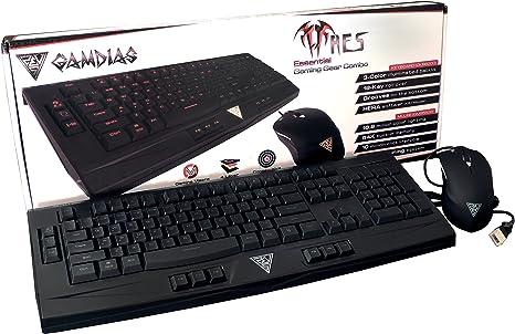 Gamdias Ares - Pack de Teclado y ratón para Gaming (QWERTY ...