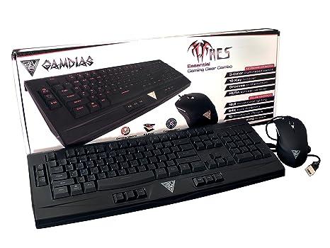 USB, Juego, USB, Negro, /Óptico, PC//Server Teclado OUREA GAMDIAS Ares
