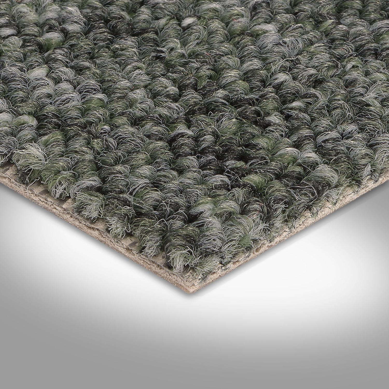 Teppichboden Auslegware Meterware Schlinge gr/ün grau 400 und 500 cm breit verschiedene L/ängen