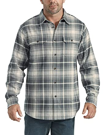 Dickies Mens Long Sleeve Heavyweight Flannel Shirt