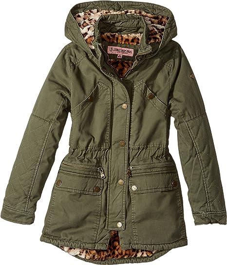 a5e70c469fc2 Amazon.com  Urban Republic Kids Womens Cotton Twill Anorak With Faux ...