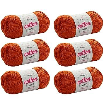 Baumwollgarn Stricken *MyOma Cotton pure aprikose (Fb 0194 ...