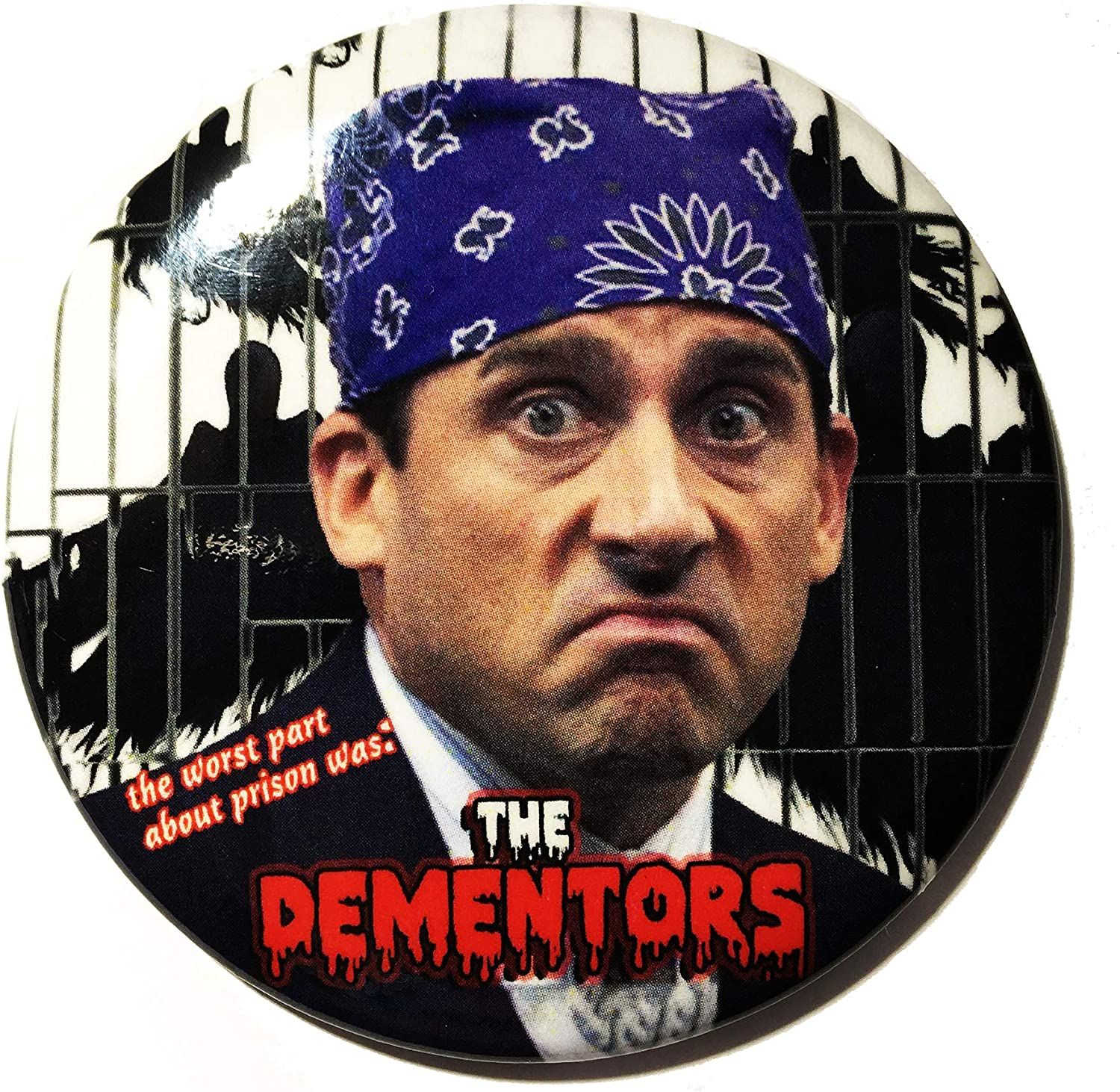 """Prison Mike The Worst Thing 2.5"""" Round pin back button"""