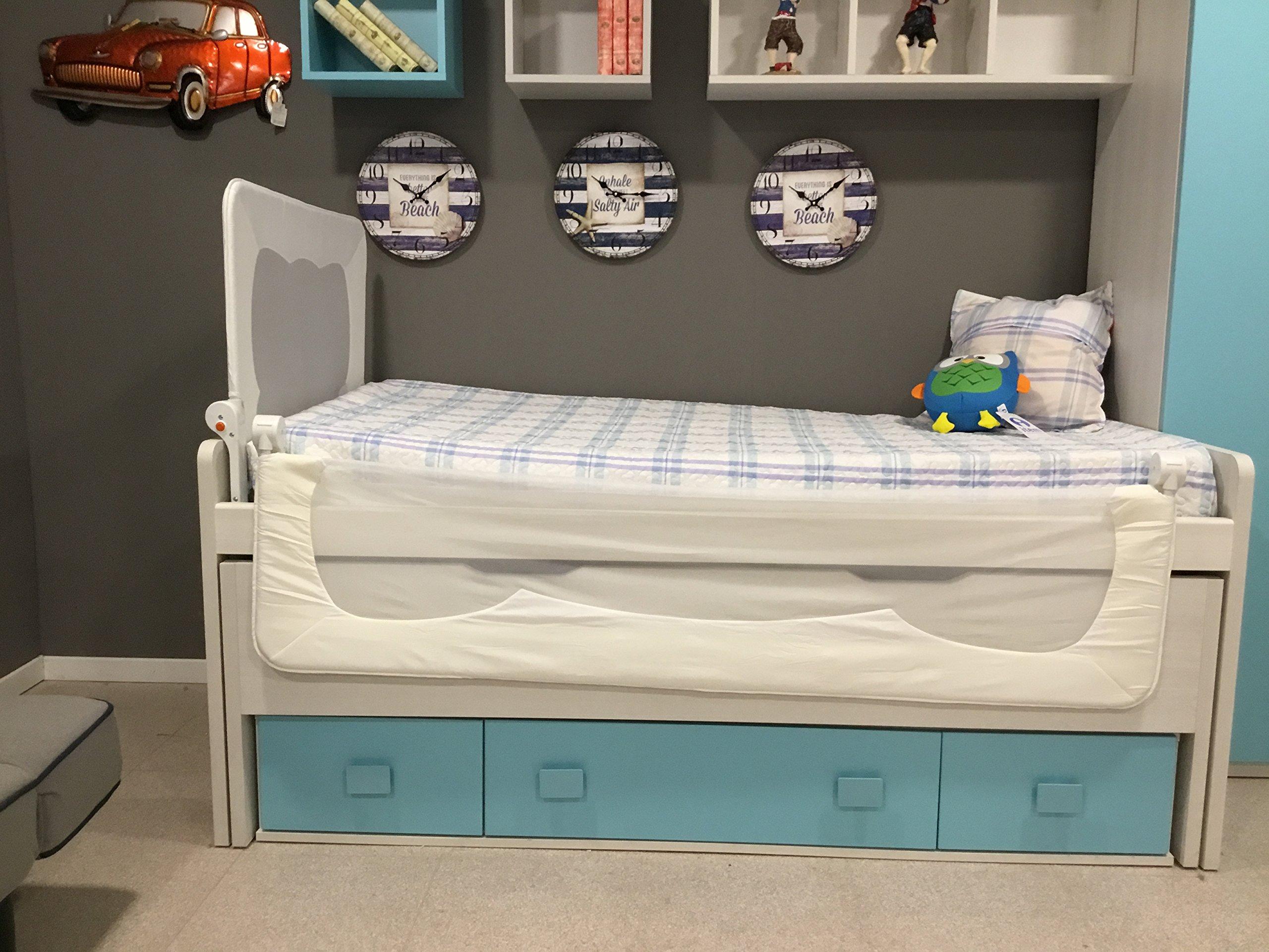 Barrera de cama para bebé, 90 x 66 cm. Modelo Blanco.Valido para