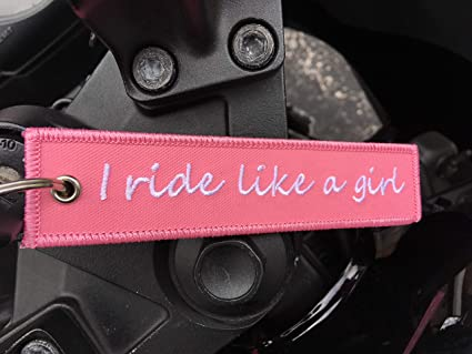 Keychain for Motorcycles Biker Babe GUR1Y Scooters Cars /& Gifts