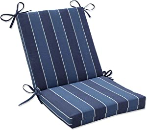Pillow Perfect 568515 Outdoor/Indoor Wickenburg Indigo Square Corner Chair Cushion, 36.5