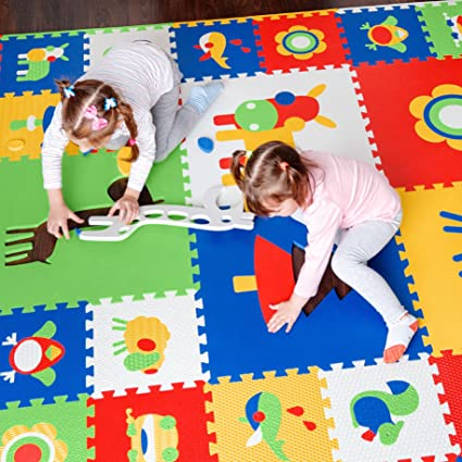 floor mats for kids. Thick Foam Floor Mats For Kids - Non Toxic EVA Puzzle Play Mat In Storage H