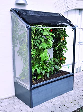 Growcamp Lean To Balkon Hochbeet Tomatenhaus Amazon De Garten