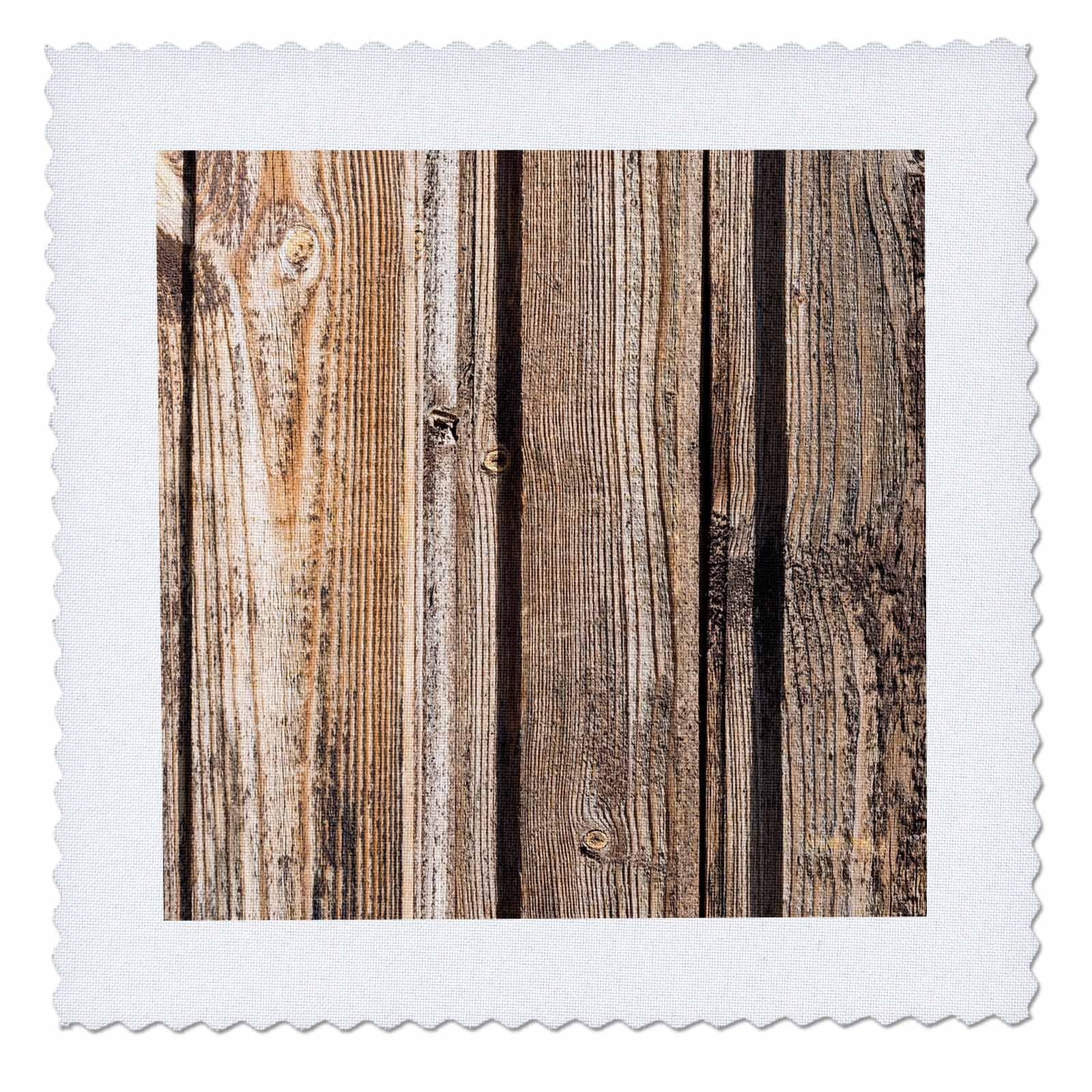 3dRose Alexis Photography - Texture Wood - Old, used, rough, wooden planks. Wood texture - 16x16 inch quilt square (qs_270829_6)