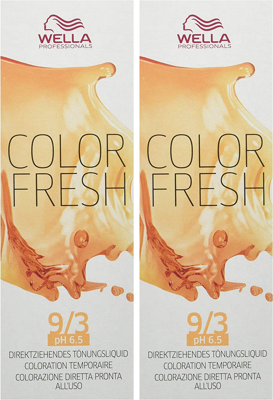 Wella Tinte color fresco brillante 9/3 de oro rubio claro ...