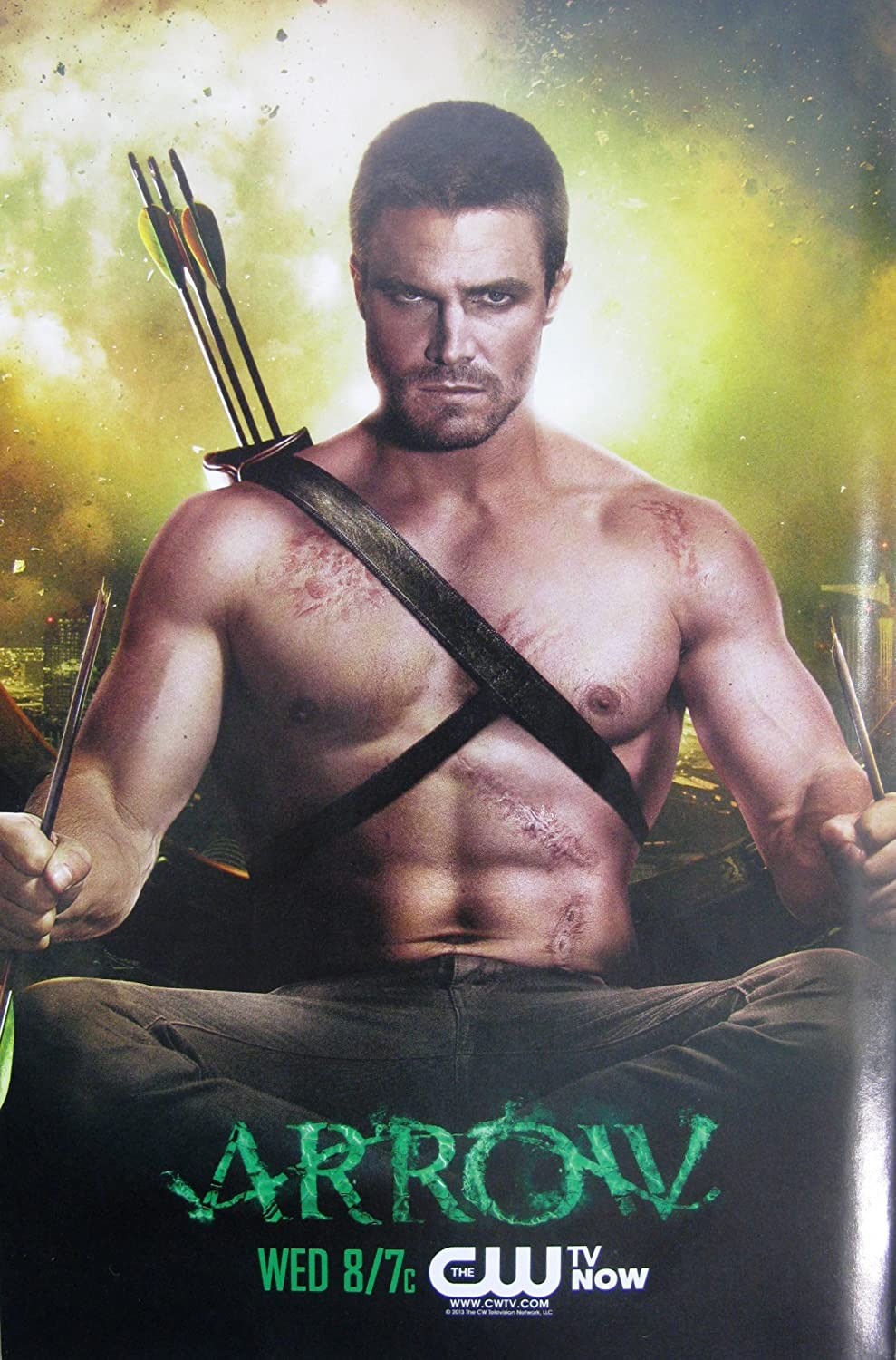 ARROW TV Show PHOTO Print POSTER Series Art Oliver Queen Green Stephen Amell 003