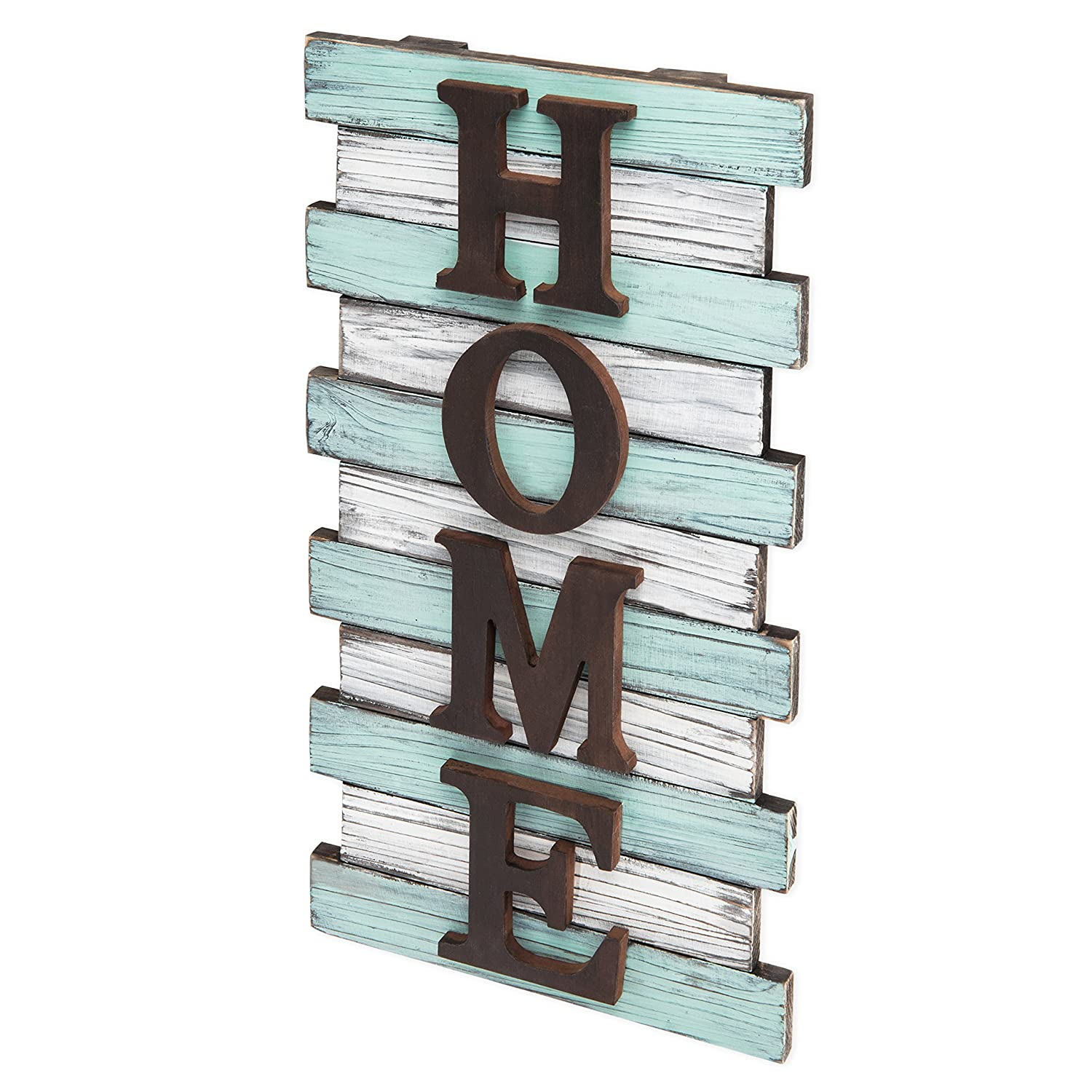 MyGift 16-Inch Rustic Wood Pallet Wall-Mounted Home Sign