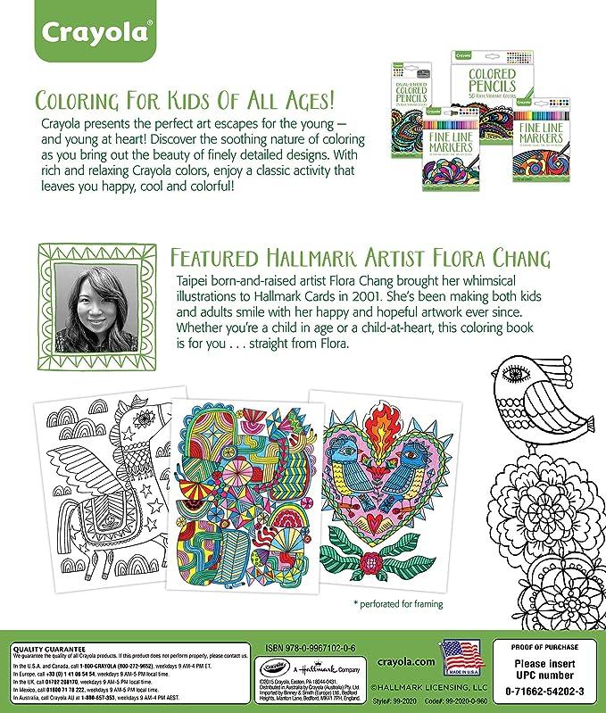Crayola Folk Art Escapes Coloring Book: Amazon.com.mx: Juegos y juguetes