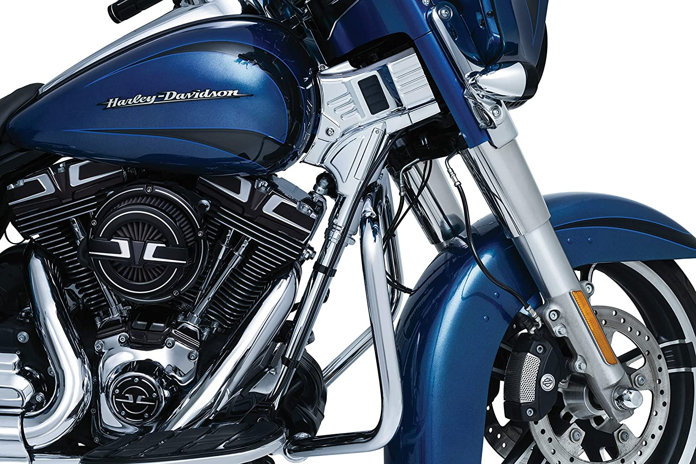 Chrome 1 Pair LED Saddlebag Hinge Accents for 2014-19 Harley-Davidson Touring Motorcycles Kuryakyn 5476 Motorcycle Lighting Accessory
