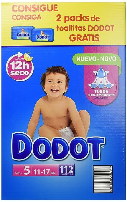 Dodot - Pañales para bebé, talla 5, 112 piezas
