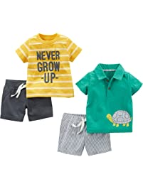 7a5f77c020c5 Simple Joys by Carter's Baby Boys' 4-Piece Playwear Set