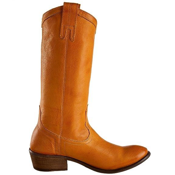 Para la venta barato real Hacer un pedido Frye botas W CARSON PULL ON botas para mujer talla 39 US 8 curry Liquidación bajo tarifa de envío hBIm86
