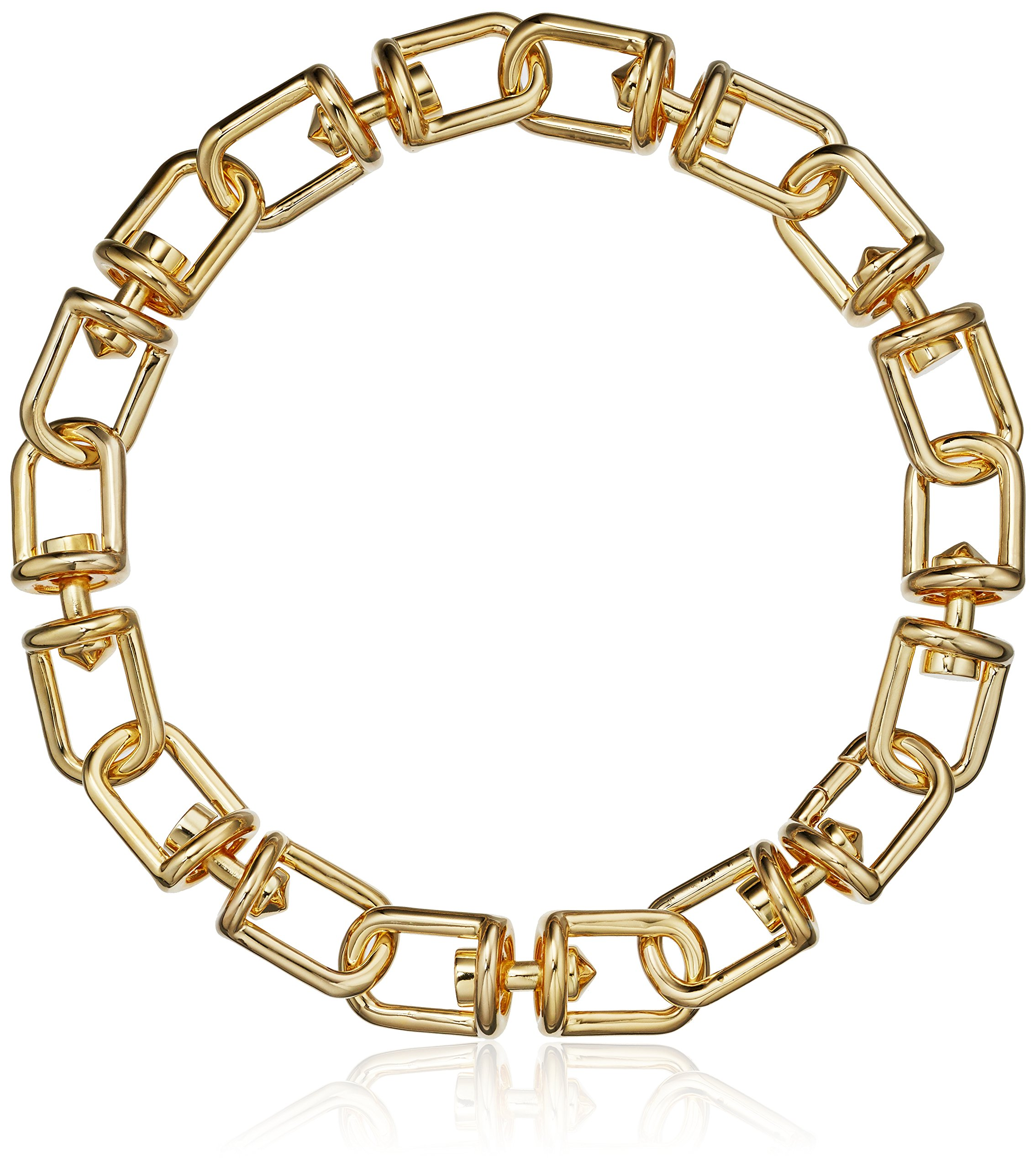 EDDIE BORGO Fame Link Collar Chain Gold Necklace, 18''