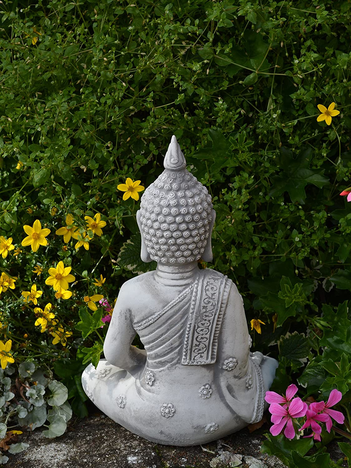 Solid Stone Buddha Monk Garden Decoration Room Decoration Made of Stone Cast Frost Resistant