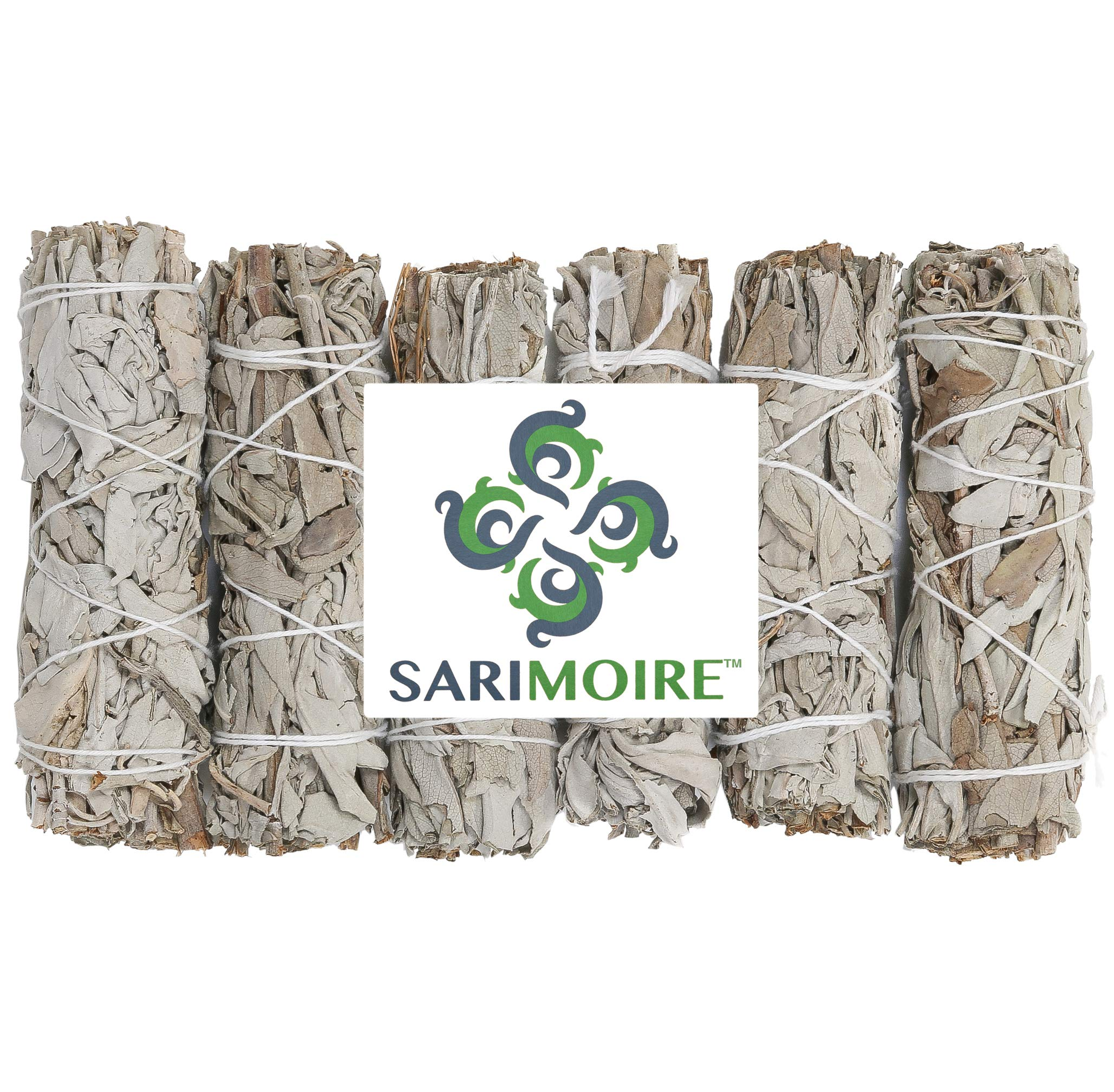 White Sage Smudge Sticks - 6 - 4'' Sage Bundles - Perfect Sage Stick Smudge Sticks Smudging Kit Replenishment by Sarimoire (Image #4)