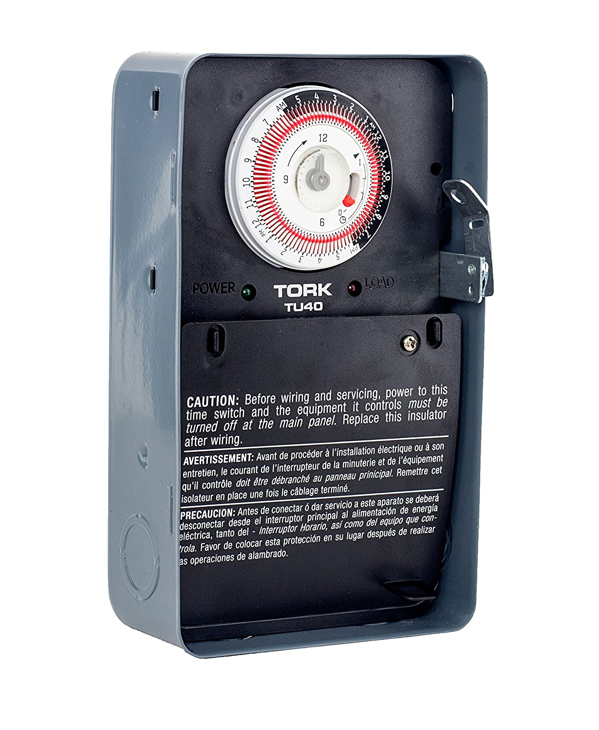TU40 Series Universal Multi-Voltage Same ON/OFF Times Each Day 24 Hour Time Switch, Metal, Indoor, 120/208-240/277 Timer Supply, DPDT Dry Contact: ...