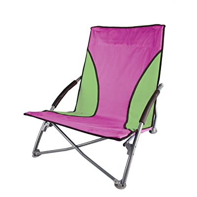 Stansport Low-Profile Fold-Up Chair, Purple/Lime : Sports & Outdoors