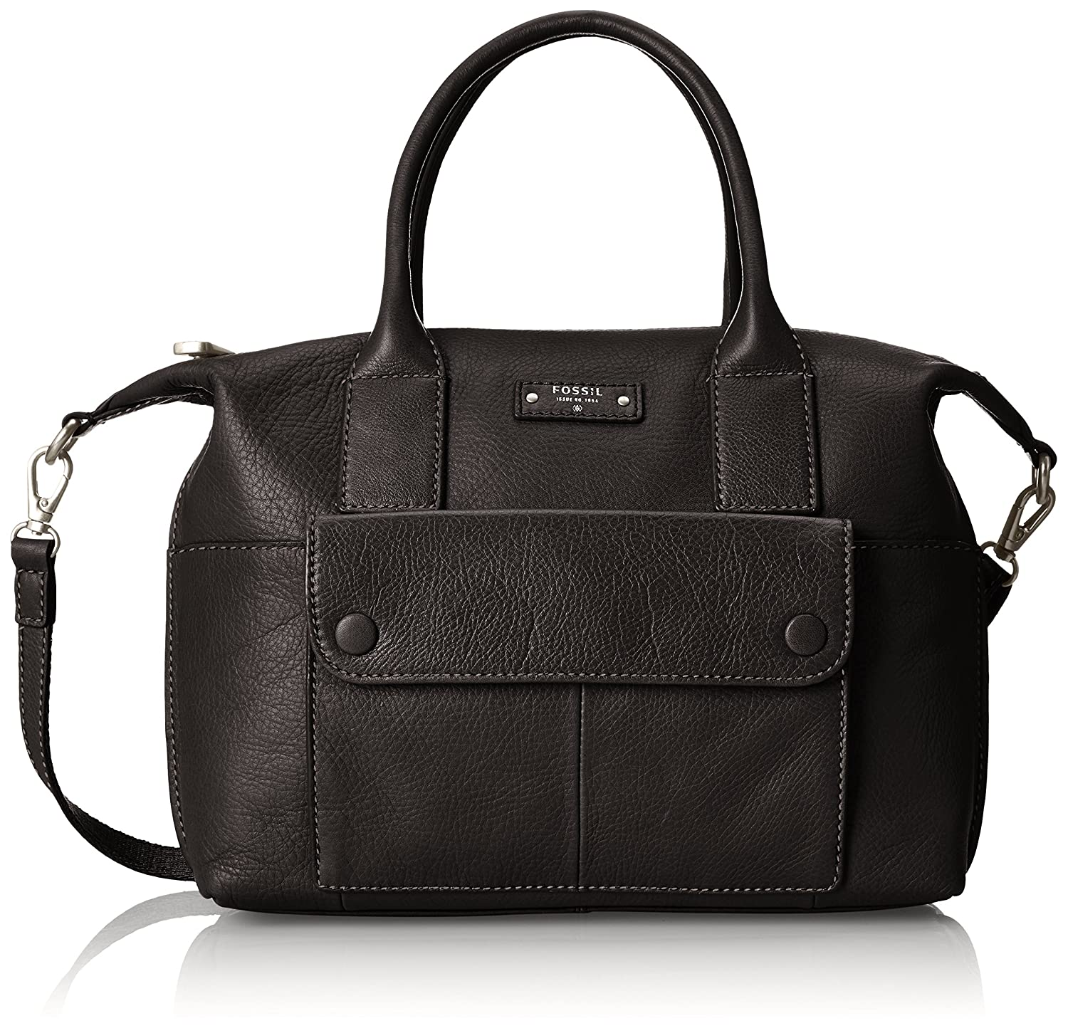 Fossil Blake Satchel, Black, One Size: Handbags: Amazon.com