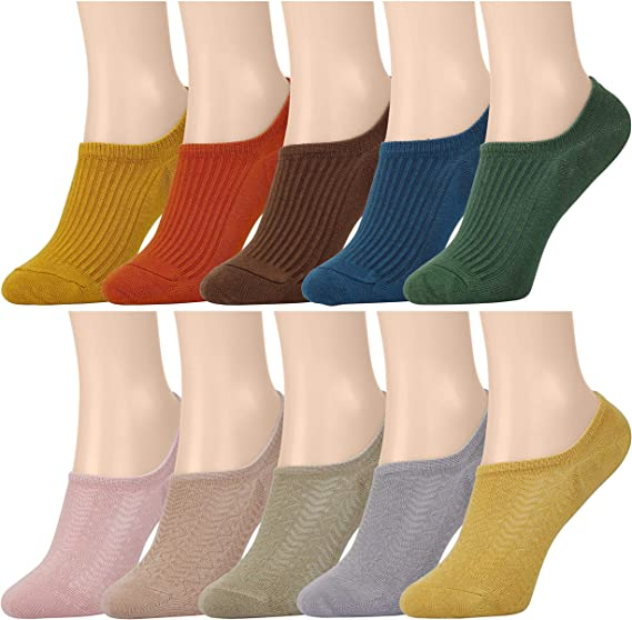 MaoXinTek Calcetines Invisibles Mujer 10 Colores Transpirable ...