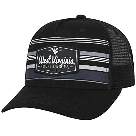 new style a46f2 8ad83 Image Unavailable. Image not available for. Color  Top of the World West  Virginia Mountaineers Official NCAA Adjustable Route Mesh Trucker Hat Cap  Curved