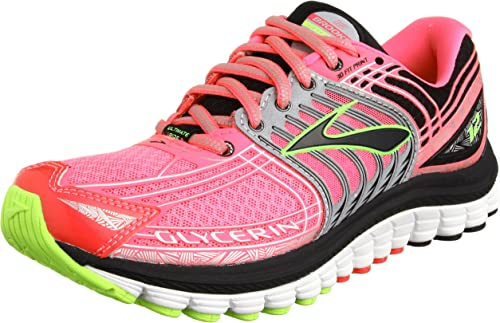 BROOKS Glycerin 12 Zapatilla de Running Señora, Rosa/Negro, 40.5 ...