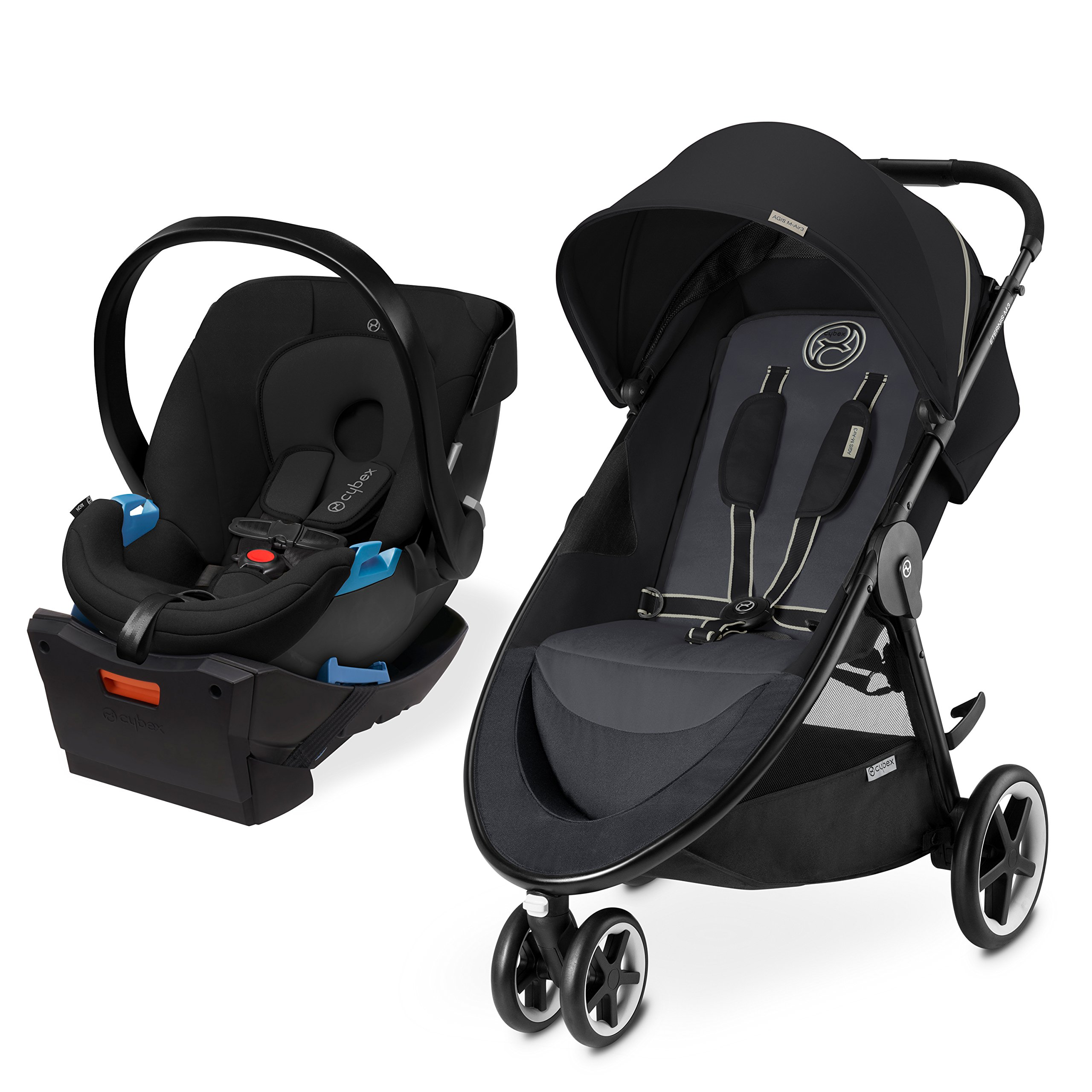 Cybex Agis M-Air 3/Aton/Aton Base Travel System, Moon Dust