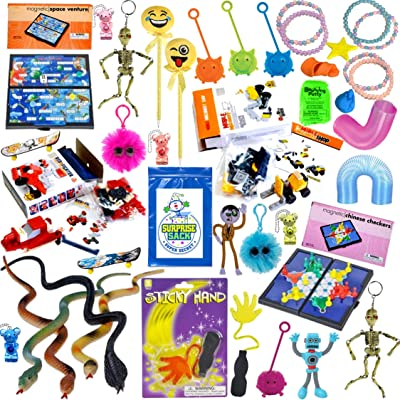 The Ultimate Prize Box Collection - Quality Large Prizes for Goodie Bags, Party Favors for Kids, Prizes for Kids, Carnival Prizes, Classroom Prizes, Pinata Filler, Kids Stocking Stuffers (40 Pc): Toys & Games